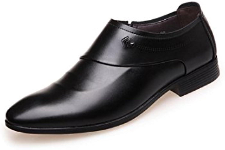 HYLM Männer echtes Leder Business Schuhe Hochzeit Schuhe Soft Cover spitze Schuhe