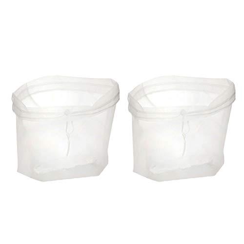 BESTONZON 2 Stück Nussmilch Mesh Beutel Wiederverwendbare Nylon Feinmaschig Lebensmittel Sieb für Zuhause Nuss Mandel Milch Kaltbrauen Kaffee Saft (23 x 30 cm)