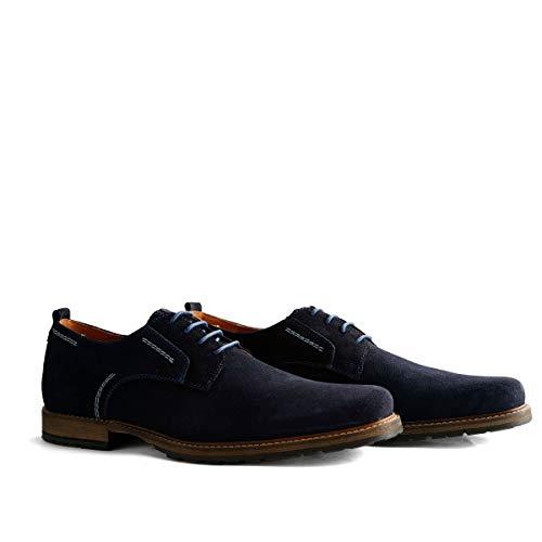 Wildleder Schuhe (Travelin' London Low Herren Business Schuhe Wildleder - Dunkelblau EU 48)