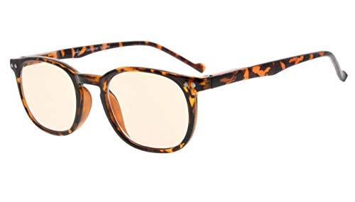 Eyekepper Vintage Computer Brillen-Anti-reflektierend, Blendschutz, klare Linse, UV-Schutz (bernsteinfarbene getönte Linsen, Schildkröte)