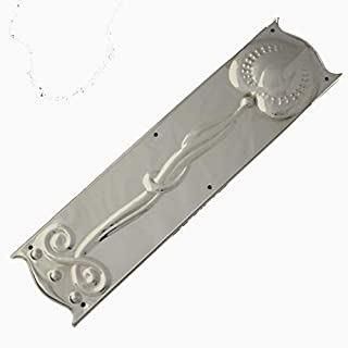 Art Nouveau Nickel Finger Plate