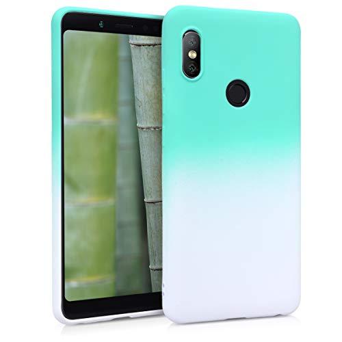 kwmobile Xiaomi Redmi Note 5 (Global Version) / Note 5 Pro Hülle - Handyhülle für Xiaomi Redmi Note 5 (Global Version) / Note 5 Pro - Handy Case in Mintgrün Weiß