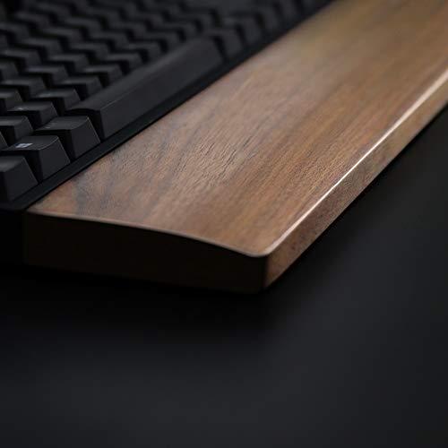 Walnut Wooden Keyboard Wrist Rest Vaydeer Ergonomic Gaming Desk Tenkeyless 87 Key Wrist Pad Support for Computer,Laptop Easy Typing Pain Relief Durable Comfortable,14inch