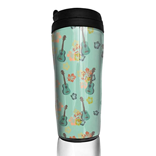 Travel Coffee Mug Art Tiki 12 Oz Spill Proof Flip Lid Water Bottle Environmental Protection Material ABS
