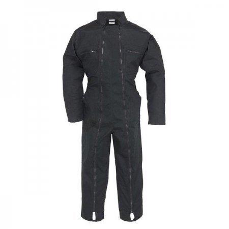 Arbeitsoverall 2 Reißverschlüsse Polybaumwolle schwarz 245 g/m2 Größe: L