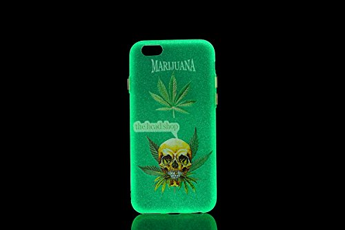 iPhone 6 Custodia, iPhone 6S Case Cover, ISAKEN Agganciabile Luminosa Case Cover con LED Lampeggiante per Apple iPhone 6/6S, Ultra Slim Sottile TPU Gel Silicone Protettivo Skin Custodia Protettiva She Bone