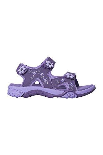 Mountain Warehouse Sandalen Seaside Junior Sandalen Strandschuhe mit verstellbaren Klettverschluß flach Unisex Jungen Mädchen Sommer outdoor wandern sportlich bequem sommer wandersandalen Violett