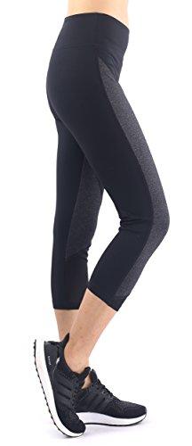 Neonysweets Legging Femme Idée Créative Noir Yoga Pantacourt Taille Normale Noir