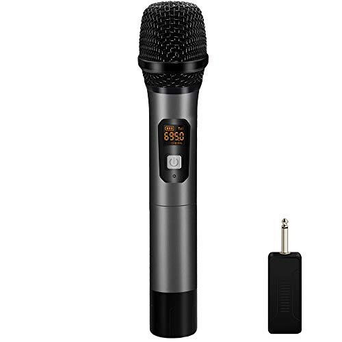 es Handmikrofon,Dynamisches tragbares Mikrofon mit Digitalanzeige,für Karaoke/Home KTV/Programm-Moderator/Outdoor-Performance/Party-Event/Konferenz zur Rede ()