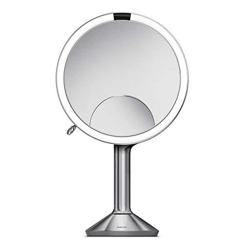 Simple Human - Espejo con Sensor Acero Inoxidable, 20 cm, Color Plateado