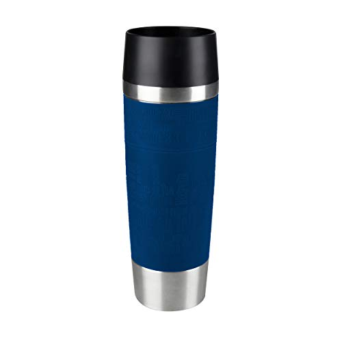 emsa 515618 Emsa 515618 Isolierbecher (Mobil genießen, 500 ml, Quick Press Verschluss, Travel Mug Grande) blau