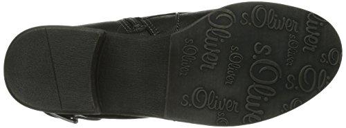 s.Oliver 25313 Damen Biker Boots Schwarz (BLACK/GRAPHITE 97)