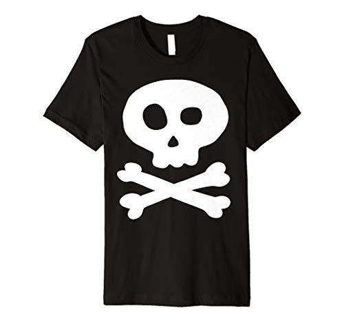 (Totenkopf und Kreuz Knochen Piraten T-Shirt)