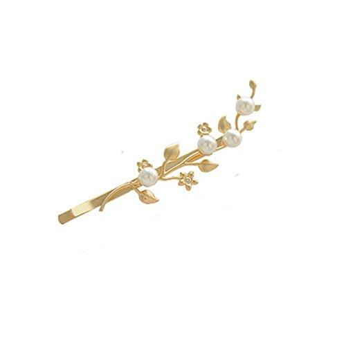 Sweet leaf metallo clip di capelli/[Clip Beads bordo]/Clip Bangs/ un copricapo clip e bordo ricamato clip-A