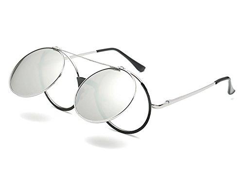 Bmeigo Gafas Steampunk Flip Up círculo metálico redondo, gafas flip up, oferta steampunk, mejor moda steampunk, modasteampunk