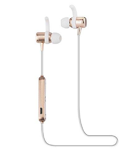 Cuffie Bluetooth, Bluetooth 4.1 Stereotipia Stereo Stereo Magnetica Con Sottile Leggera, Cuffia Sportiva Impermeabile Con Microfono, Funziona Con Iphone, Samsung E Molto Altro , Gold