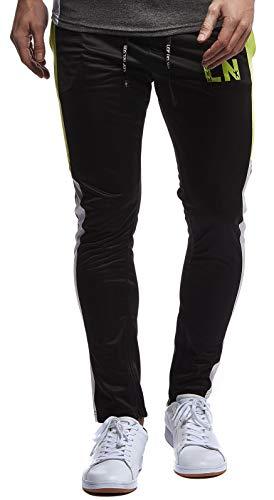 El clásico de la moda de hombre como imprescindible para hombres a la moda. Fabricado en material ligero, los pantalones de ocio destacan sobre todo por su sentido de la moda. Cómoda de llevar y con estilo Un elemento llamativo de gran calidad.