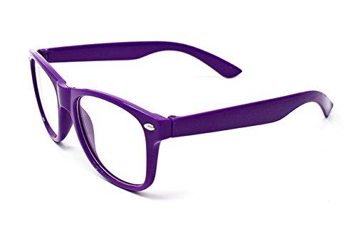 Ultra® Classic Style Multi purpurrot Lichtscheibe klassische Rahmen ideal für Kostüme Partys Gläser Geschenk Nerds und Hipster (lila)