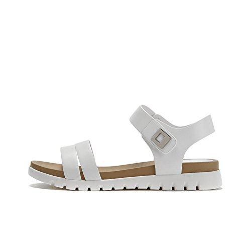 Velcro Sandali,Testa Rotonda Semplice,Una Parola Con,Scarpe Da Donna Comfort Flat A