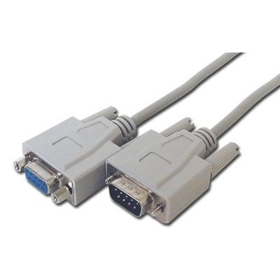 PC Arena DB9 pines Hembra - Macho RS232 Serial Cable de extensión de Cable 10 m