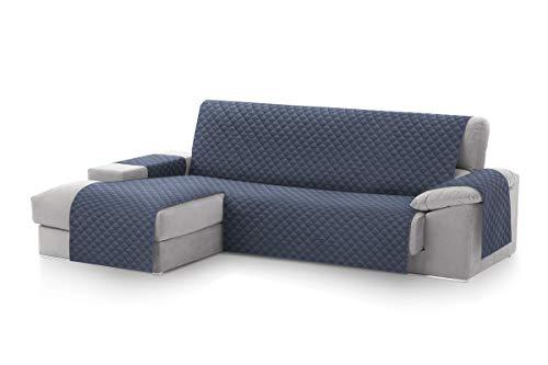 Textil-home MALU Chaise Longue Sofa Bezug, Schutz für Linke Arm Gesteppte Sofas. Größe -240cm. Farbe Blau (Vorderansicht)
