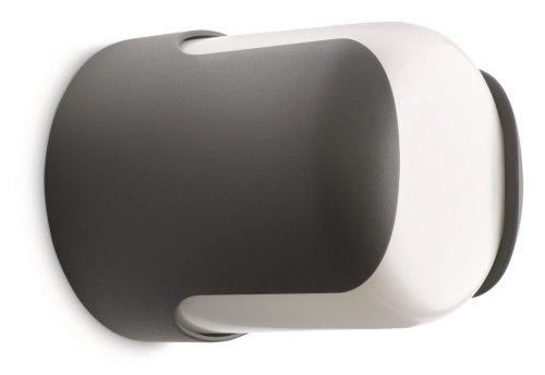 Philips Ecomoods Außen Wandleuchte Anthrazit/Weiß Inkl. E27 20W Lampe 2700K (Vorstellungen Edle)