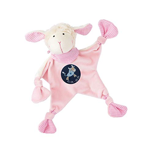 sigikid, Mädchen, Schnuffeltuch, Schaf mit Sternzeichen Stier, Rosa, 48817