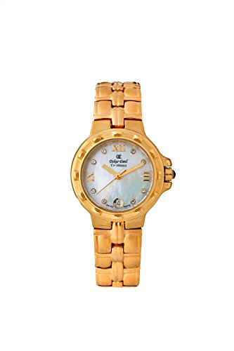 Oskar-Emil Classic Gold Casablance Women's Quartz Watch with Mother of Pearl Dial Analogue Display and Stainless Steel Gold Plated Bracelet