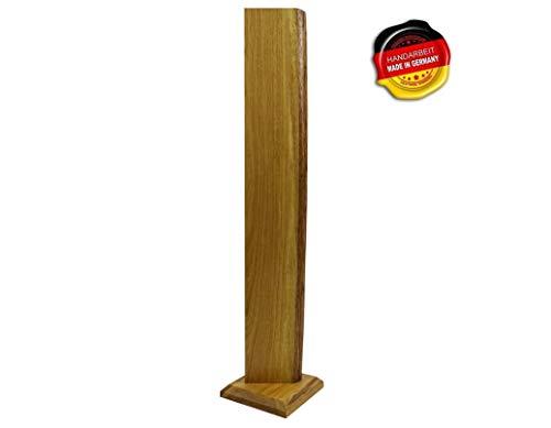 Premium Stehlampe *Alesund* Holz LED Stehlampe Holz LED Stehleuchte Dimmbar'Handarbeit Made in Germany' jede Lampe ein UNIKAT massiv Eiche ... (Kaltweiß)