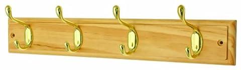 Headbourne hr0607h Türgarderobe Chrom mit Fixer 4Haken Doppel