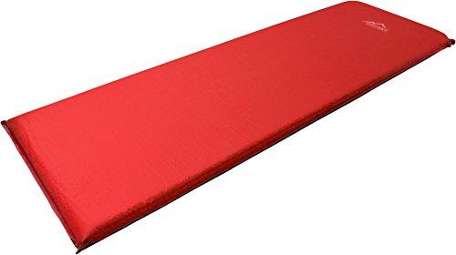 normani SELBSTAUFBLASENDE ISOMATTE THERMOMATTE Farbe Rot/Grau Größe 193 x 61 x 5 cm