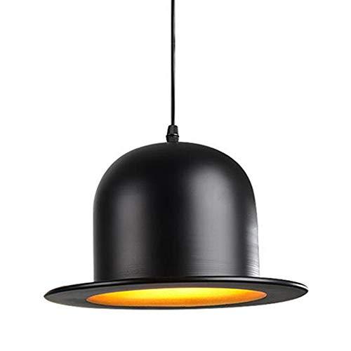 Creative Woodhouse Bowler Hat Kronleuchter Schatten, Bowler Hüte Deckenleuchte hängende Windlichter Lampenschirme, Loft Bar Küche Aufhängen Deckenleuchte, B