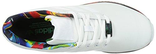 Unisex erwachsene bunt Flux weiß Zx blau Adidas Sneakers Weiß qtEzTW7