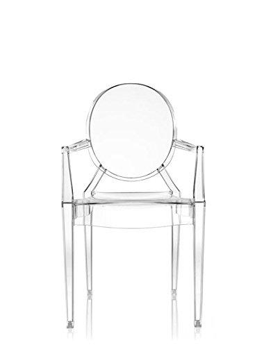 Kartell 05853B4 LOUIS GHOST Chaise lot de 4, transparent