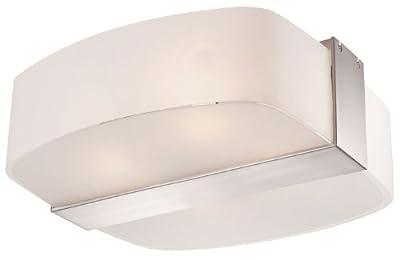 Deckenlampe Deckenleuchte Stahl Glas satiniert Lampe Licht Leuchte ELISA von etc-shop auf Lampenhans.de