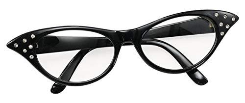 Labreeze Damen Brille 50er-Jahre-Stil Rockabilly Fifties Junggesellinnenabschied Kostüm-Zubehör