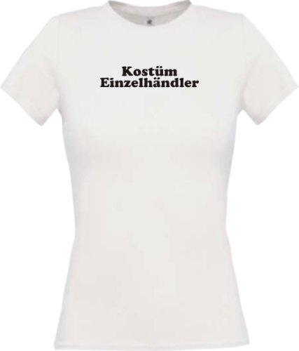Lady-Shirt Kostüm Einzelhändler Verkleidet Karneval Fasching Kostüm Verkleidung, Farbe weiss, Größe XL (Kostüme Einzelhändler)