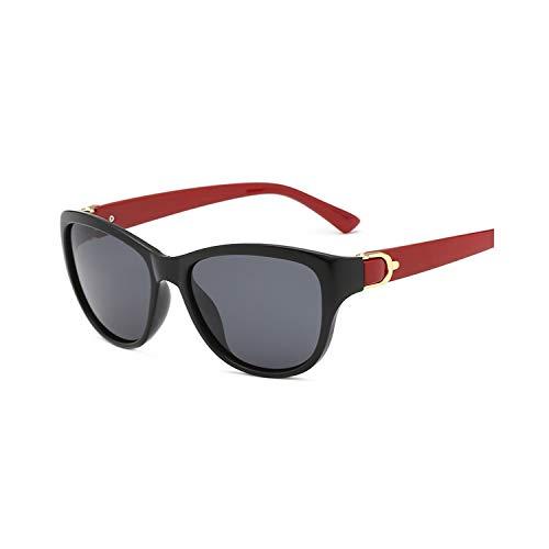 Vikimen Sportbrillen, Angeln Golfbrille,NEW Luxury Brand Design Cat Eye Polarisiert Sunglasses Womens Lady Elegant Sun Glasses Female Driving Eyewear 3-Red-Black