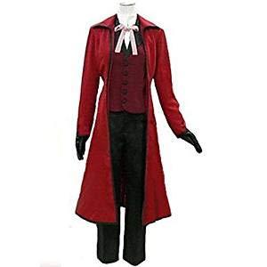 Sunkee Black Butler Cosplay Grell Sutcliff Kostüm, Größe L( Alle Größe Sind Wie Beschreibung Gesagt, überprüfen Sie Bitte Die Größentabelle Vor Der Bestellung ) (Grell Sutcliff Kostüm)