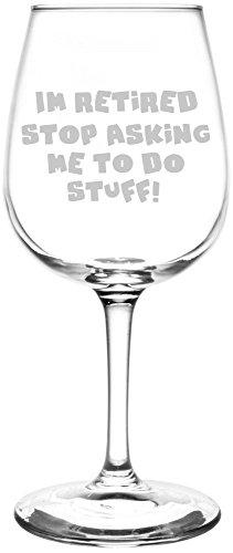 Stop Asking Me To Do Stuff - Posavasos vino grabado