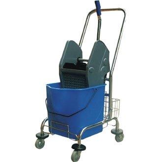 uswringer Heavy Duty Auswringer und Eimer mit einer starken Edelstahl Trolley und Aufbewahrungskorb. ()