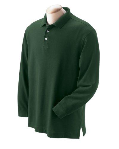 Men's Pima Piqu? Long-Sleeve Polo FOREST XL (Und Herren Devon Polos Jones)