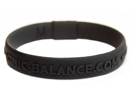 Genuine - pulsera de equilibrio, núcleo iónico , negro, Medium - 19cm / 7.5in