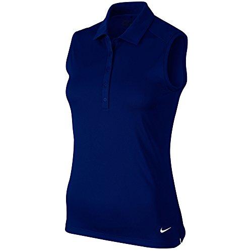 Nike VICTORY Solid S/L Polo Damen Tanktop S dunkelblau Preisvergleich