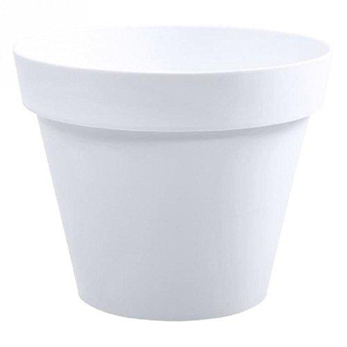 Pot de fleurs Toscane blanc Ø 25 x H.20,6 cm - 6L