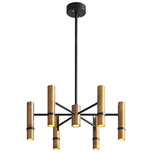 Mjd Kronleuchter Romantisches Industrielles Leuchter-nordisches Unbedeutendes Wohnzimmer-Schlafzimmer Das Goldene Dampf-Rohr-Zylinder-Lampe Beleuchtet Lampe -