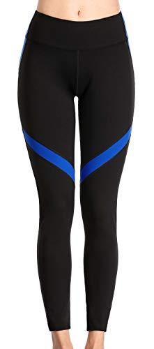 Charmo Leggins Lang Damen Blickdicht Frauen Hohe Taille Yoga Legging Macht Bauch Kontrolle Workout Stretch Sportart Yoga Hosen Für Gym Übung L