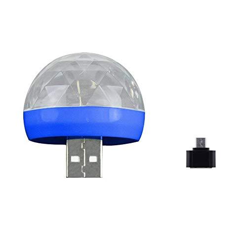 LED Disco Kugel Licht MP3 Musik Disco Licht USB Portable Farben Modi Dance Hall Strobe Light Party Licht für Hochzeit Festival Bar Club DJ KTV Ball Lampe Party Lampe (Blau) (Licht Bars Strobe)