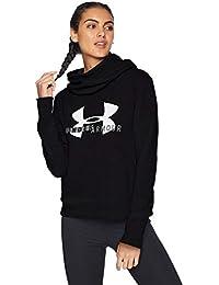 Under Armour - Sudadera con Capucha para Mujer, algodón, Forro Polar, Estilo Deportivo, Mujer, 1321185-001, Black/White/Graphite, Small