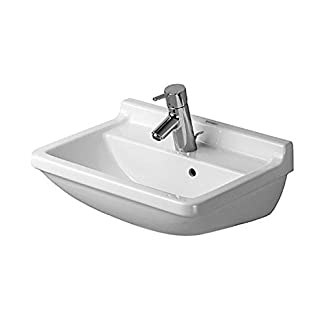 Duravit 0300500000 lavabo Lavabo sobre-encimera Cerámico – Lavabos (Lavabo sobre-encimera, Cerámico, Blanco, 500 mm)